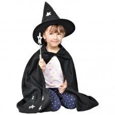 """Костюм карнавальный """"Волшебник"""", в мешке,  черный, флис,  мешок 25*30 см,  вышивка"""