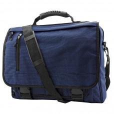 """Конференц-сумка с отделением для ноутбука """"Portfolio""""; синий; 39,5х30х7 см; полиэстер; шелкография"""
