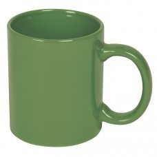 Кружка; зеленый; 300 мл; керамика; деколь