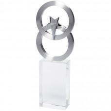 """Стела """"Полярная звезда"""" в подарочной упаковке;7х3х21 см; стекло, металл; лазерная гравировка"""