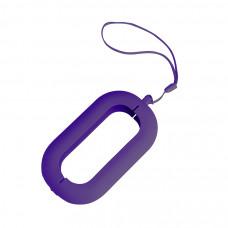 """Обложка с ланъярдом к зарядному устройству """"Seashell-2"""", фиолетовый,силикон"""