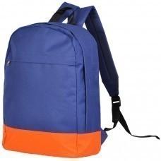"""Рюкзак """"URBAN"""",  темно-синий/оранжевый, 39х29х12 cм, полиестер 600D,  шелкография"""
