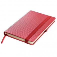 Ежедневник недатированный Barry, А5,  красный металлик, кремовый блок, без обреза