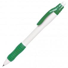 N4, ручка шариковая с грипом, белый/зеленый, пластик