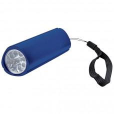 Фонарь треугольный (9 LED); синий; 9,7х3 см; металл; лазерная гравировка