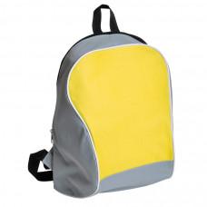 "Промо-рюкзак ""Fun""; серый с желтым; 30х38х14 см; полиэстер; шелкография"
