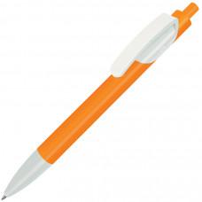 TRIS, ручка шариковая, оранжевый/белый, пластик