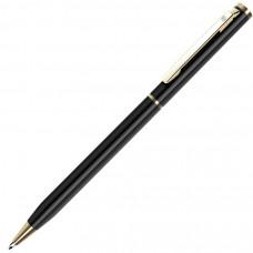 SLIM, ручка шариковая, чёрный/золотистый, металл