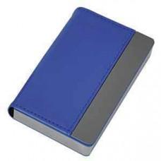 """Визитница """"Горизонталь""""; синий; 10х6,5х1,7 см; иск. кожа, металл; лазерная гравировка"""