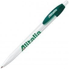 X-1, ручка шариковая, зеленый/белый, пластик