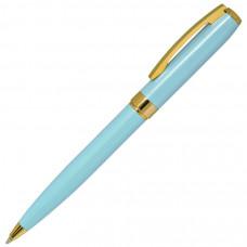 ROYALTY, ручка шариковая, бирюзовый/золотой, металл, лаковое покрытие