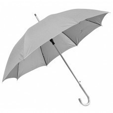 """Зонт-трость с пластиковой ручкой """"под алюминий"""" """"Silver"""", полуавтомат; серый; D=103 см;"""