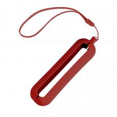 """Обложка с ланъярдом к зарядному устройству """"Seashell-1"""", красный,силикон"""