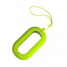 """Обложка с ланъярдом к зарядному устройству """"Seashell-2"""", светло-зеленый,силикон"""