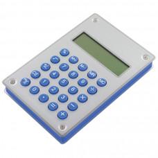 """Калькулятор """"Aqua"""" на энергии воды; 10х15х1,8 см; металл,пластик; лазерная гравировка"""