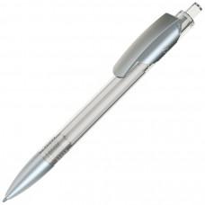 TRIS LX SAT, ручка шариковая, прозрачный белый/серебристый, пластик