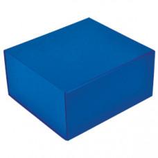 Коробка  подарочная складная ,  синий, 22 x 20 x 11 cm,  кашированный картон,  тиснение, шелкография