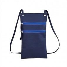 """Сумка для дорожных  документов """"ACTIVE"""" с длинным ремешком , синий, 17х30см, полиестер,  шелкография"""