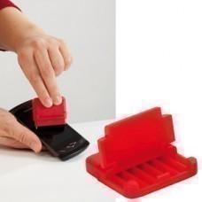Подставка для мобильного телефона и электронных устройств с поверхностью  для протирки экрана;красны