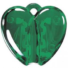 HEART CLACK, держатель для ручки, прозрачный зеленый, пластик