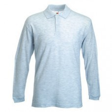 "Поло ""Long Sleeve Polo"", пепельный_XL, 90% х/б, 10% п/э, 180 г/м2"