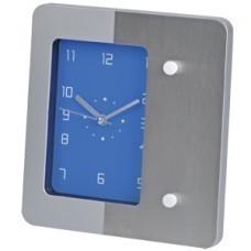 """Часы настольные """"Futura"""" с магнитами для записок , синий; 20х18 см; металл, пластик; тампопечать"""