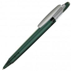 OTTO FROST SAT, ручка шариковая, фростированный зеленый/серебристый клип, пластик