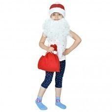 """Костюм карнавальный """"Дед Мороз"""", в мешке, флис,  мешок 25*30 см,  вышивка"""
