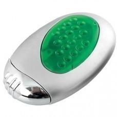 """Зажигалка """"Классика"""" с подсветкой; серебристый с зеленым; 3,5х1,6х6 см; металл, пластик; лазерная гр"""