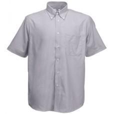 """Рубашка """"Short Sleeve Oxford Shirt"""", светло-серый_XL, 70% х/б, 30% п/э, 135 г/м2"""