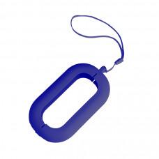 """Обложка с ланъярдом к зарядному устройству """"Seashell-2"""", синий,силикон"""