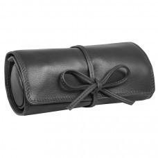 "Футляр для украшений  ""Милан"",  черный, 16х5х7 см,  кожа, подарочная упаковка"