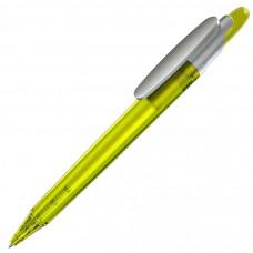 OTTO FROST SAT, ручка шариковая, фростированный желтый/серебристый клип, пластик
