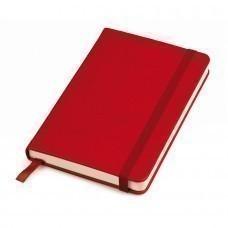 """Блокнот """"Casual"""", 90 × 140 мм,   красный ,  твердая обложка, резинка 7 мм, блок-клетка"""