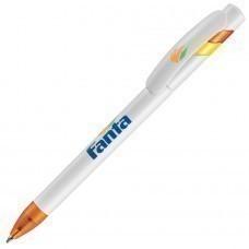 MANDI, ручка шариковая, оранжевый/белый, пластик