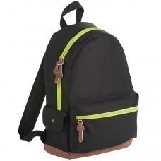 """Рюкзак """"PULSE"""", черный/зеленый, полиэстер  600D, 42х30х13 см, V16 литров"""