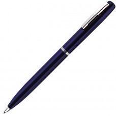 CLICKER, ручка шариковая, синий/хром, металл