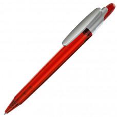 OTTO FROST SAT, ручка шариковая, фростированный красный/серебристый клип, пластик
