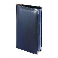 Визитница Imperium, синий, 125х203 мм, на 84 визитки, сменный блок