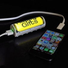 "Универсальное зарядное устройство ""Flash"" (2600mAh) с подсветкой логотипа,9,5х3х3,1 см,пластик"