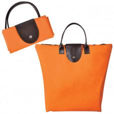 "Сумка для шопинга, ""Glam UP"" оранжевый, 39х29х7, Полиэстер 600D, иск кожа,"