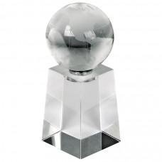 """Стела """"Globus""""; 5х5х13 см; стекло; лазерная гравировка"""