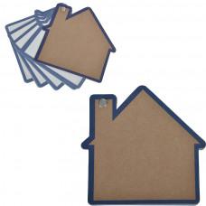 "Промо-блокнот ""Дом"", синий, 13х12,5х0,9см, картон, бумага"