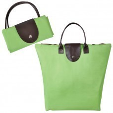 "Сумка для шопинга, ""Glam UP""  зелёный, 39х29х7, Полиэстер 600D, иск кожа"