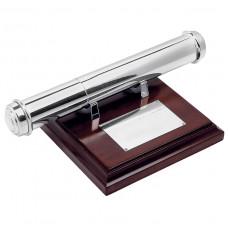 Тубус для наградных бумаг; 13,8х12,7х2,3 см; дерево, металл; лазерная гравировка