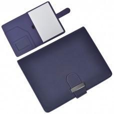 """Папка А5  с блокнотом  """"Classic"""",темно-синяя,17,5х23х1,7см, искусственная кожа"""