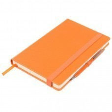 Ежедневник недатированный Barry, А5,  оранжевый металлик, кремовый блок, без обреза