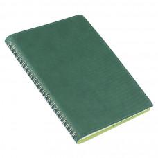 Ежедневник недатированный Foggy, А5,  темно-зеленый, кремовый блок, без обреза