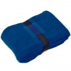 """Плед """"Уютный"""" с карманами для ног; синий, 130x150 см; флис 260 гр/м2;"""