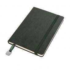 Ежедневник недатированный Boomer, А5,  темно-зеленый, кремовый блок, без обреза